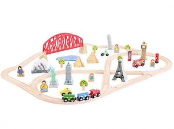 Bigjigs Rail Around The World Train Set