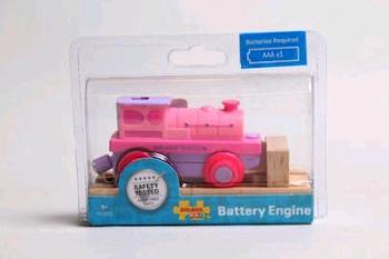Bigjigs Rail Battery Operated Pink Train