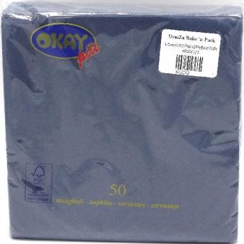 2Ply Plain Serviette Blue (50)