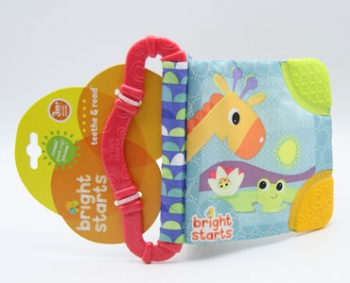 Bright Start Teether & Read Assorted Blue/Guava
