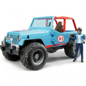 Bruder Jeep Cross Country Racer Blue with Driver