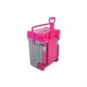 Cadii School Bags Grey Pink