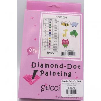Diamond Dot Painting Stickers Wild Africa 6x6