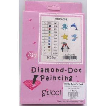 Diamond Dot Painting Stickers Sea Creatures 6x6
