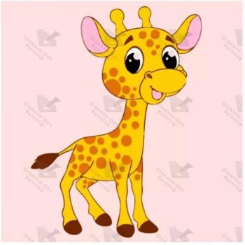 Diamond Dot Painting Baby Giraffe 18x18