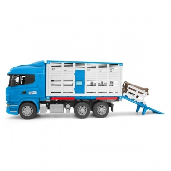 Bruder Scania R-Series Cattle truck with 1 cattle