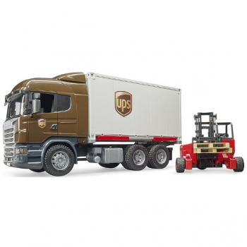 Bruder 1/16 Scania R-Series Logistics Truck With F