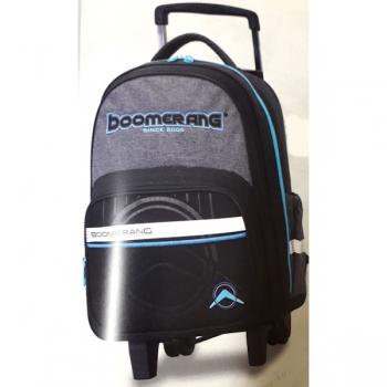 Boomerang School Bags Medium Trolley Black Cyan