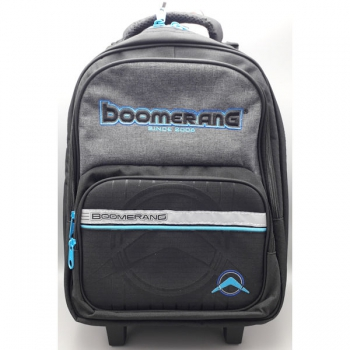 Boomerang School Bags Medium Trolley Black Cyan