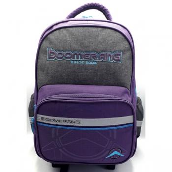 Boomerang School Bags Medium Trolley Purple