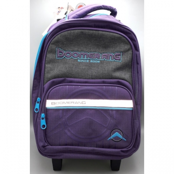 Boomerang School Bags Medium Trolley Purple