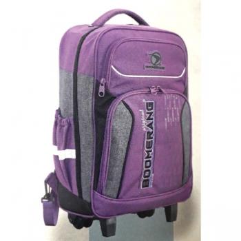 Boomerang School Bags Large Trolley Purple