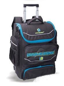 Boomerang School Bags XL Trolley Black Cyan