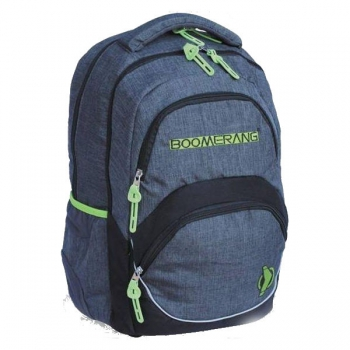 Boomerang Orthopedic School Bags Large Lime