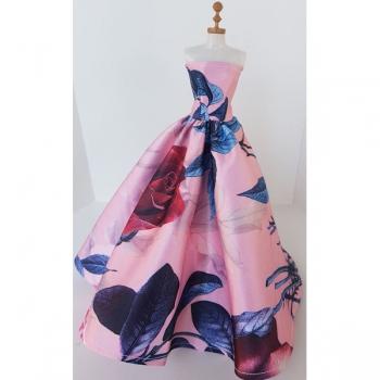 Doll Clothing Princess Dress Floral Pink