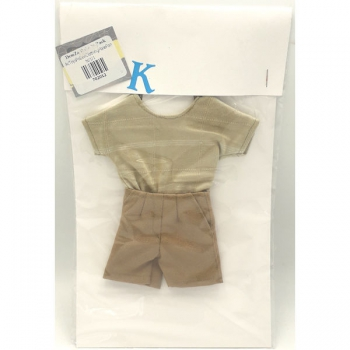 Doll Clothing Male Cotton Pants Orange