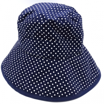 Emthunzini Hats Mindy Breton 2-5yrs 52cm Navy Dot