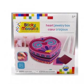 Sticky Mosaics Jewelry Heart Box