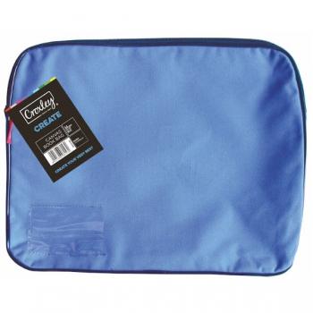Croxley Canvas Gusset Book Bag Each Blue