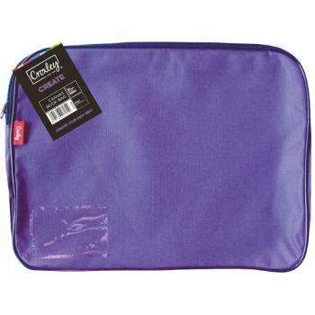 Croxley Canvas Gusset Book Bag Each Purple