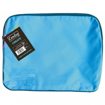 Croxley Canvas Gusset Book Bag Each Turquoise