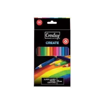 Croxley CREATE 12 Super Jumbo Wood Free Crayons