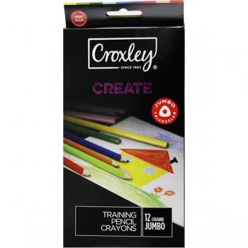 Croxley CREATE 12 Triangular Pencil Crayons
