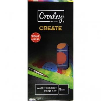 Croxley CREATE 12 Watercolour Paint Set