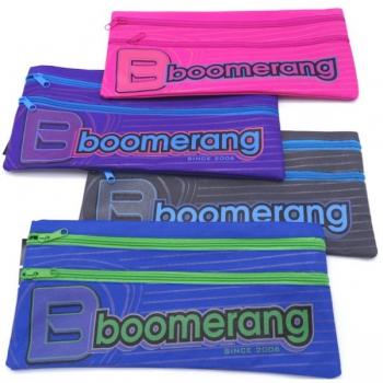 Boomerang School Bags Pencil Case 2 Zip Assorted