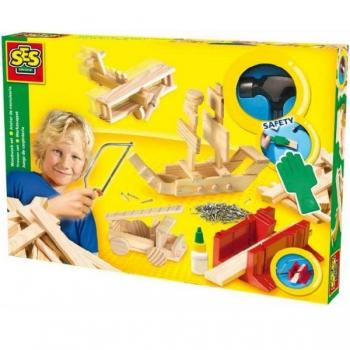 SES Toys Woodwork Set De Luxe
