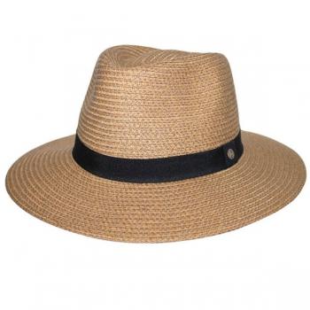 Emthunzini Hats Braided Fedora L/XL 61cm Caramel