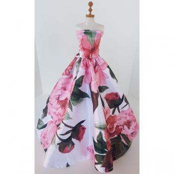 Doll Clothing Princess Dress Floral White