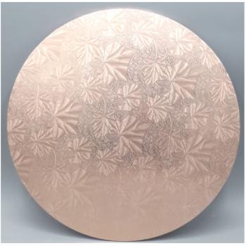 12 Inch Rose Gold Round Masonite Cake Board (1)