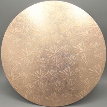14Inch Rose Gold Round Masonite Cake Board (1)