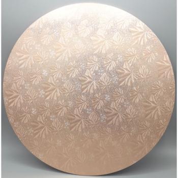 16 Inch Rose Gold Round Masonite Cake Board (1)