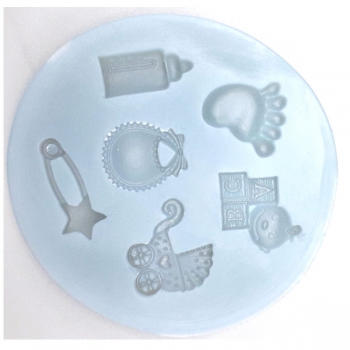 Silicone Moulds Baby Shower Blocks