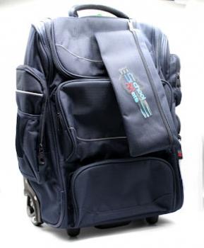 School Mate Bags XL Trolley Plain Navy