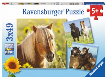 Ravensburger Puzzles 3x49Pce Loving Horses