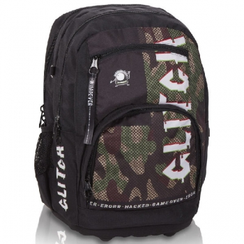 Totem Orthopedic School Bags Large Style Glitch