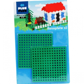 Plus Plus Baseplate 12x12cm (2 Pack)