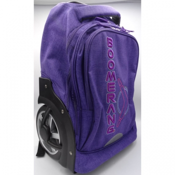 Boomerang School Bags L Big Wheel Trolley Purple