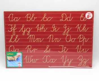 Write Right Cursive Aphabet Lines Combo Red