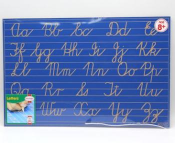 Write Right Cursive Aphabet Lines Combo Blue