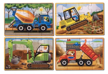 Melissa & Doug Construction 4 Puzzle in a Box