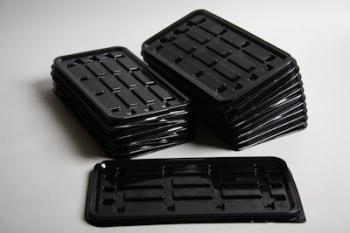 K75 Black Plastic Swiss Roll Base (100)