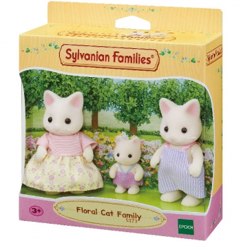Sylvanian Families Floral Cat Family