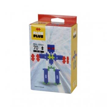 Plus Plus 70Pce Mini Neon Robot
