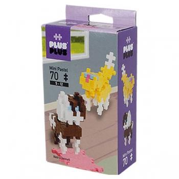 Plus Plus 70Pce Mini Pastel Cat and Dog