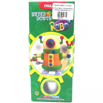 Paulinda Super Dough Robot Gift Pack Yellow/Green