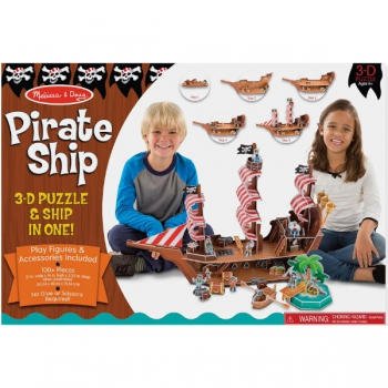 Melissa & Doug  3D Puzzle Pirate Ship